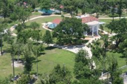 Ariel view of the Oak Crest Mansion property